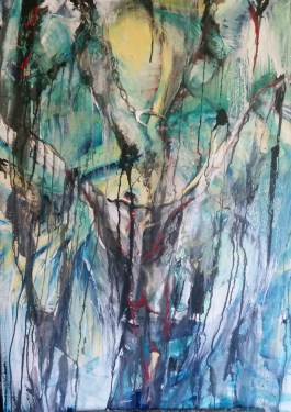 """Almost Redemption Day Oil on canvas 30"""" x 40"""" By Cat Jones"""