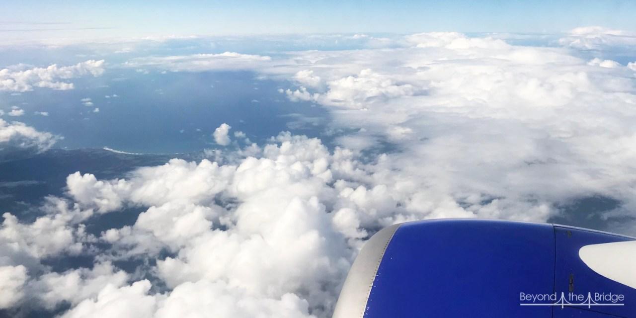 Dans l'avion…