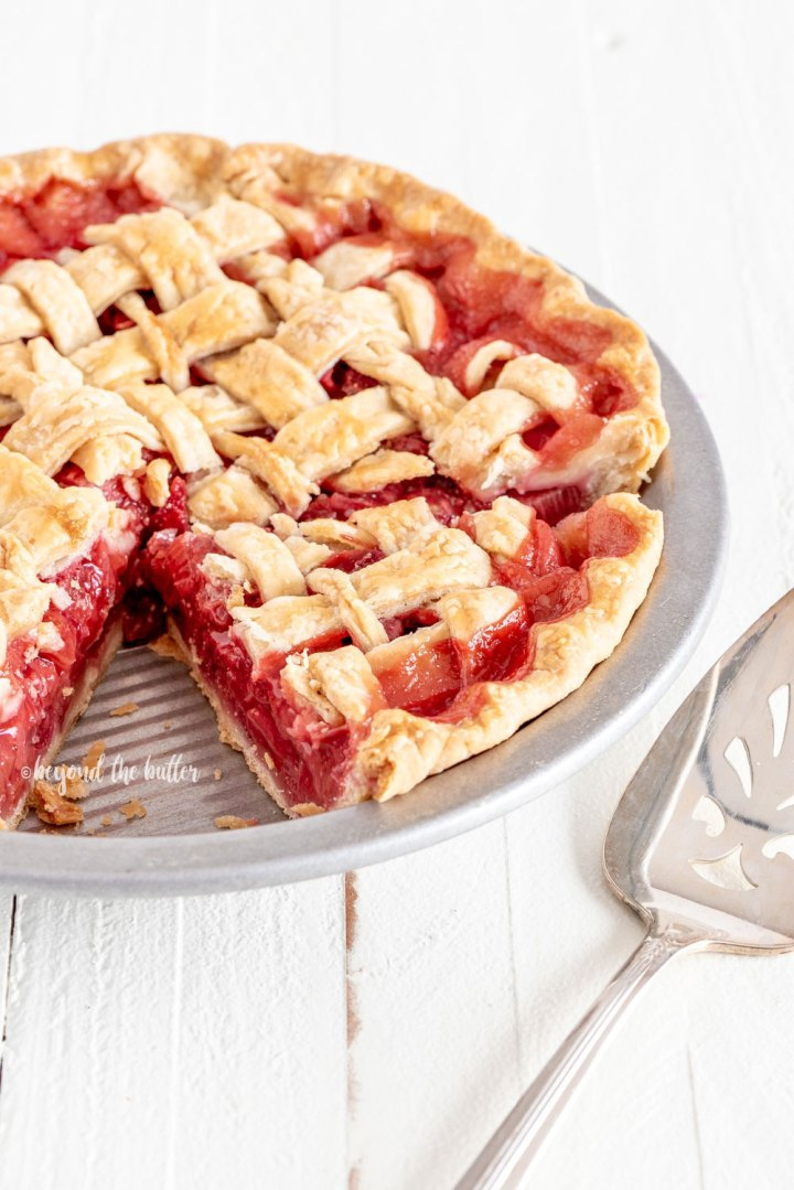 Strawberry Rhubarb Pie Recipe | All Images © Beyond the Butter, LLC