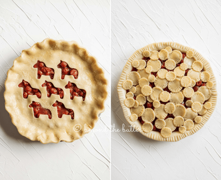 Image of 2 unbaked cherry pies | All Images © Beyond the Butter™