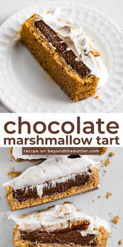 Images of sliced chocolate marshmallow tart from BeyondtheButter.com | © Beyond the Butter®