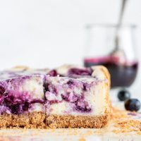 Blueberry Swirl Cheesecake Bars