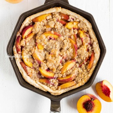 Brown Sugar Peach Crumble Pie Recipe | All Images © Beyond the Butter, LLC