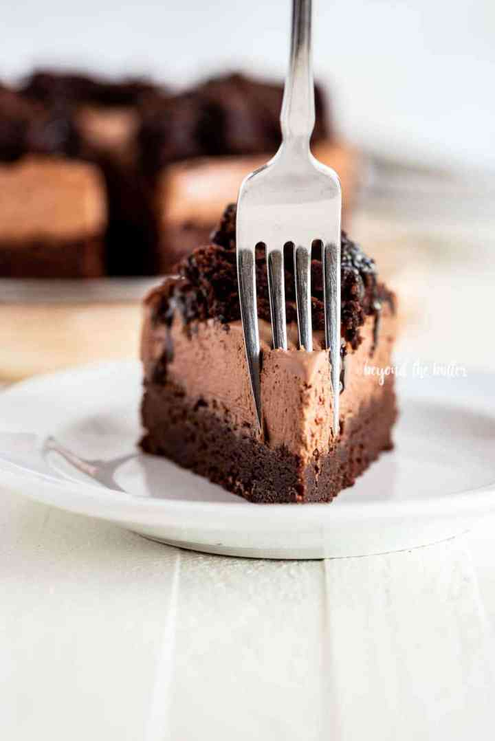 Chocolate Brownie Cheesecake recipe | All Images © Beyond the Butter, LLC