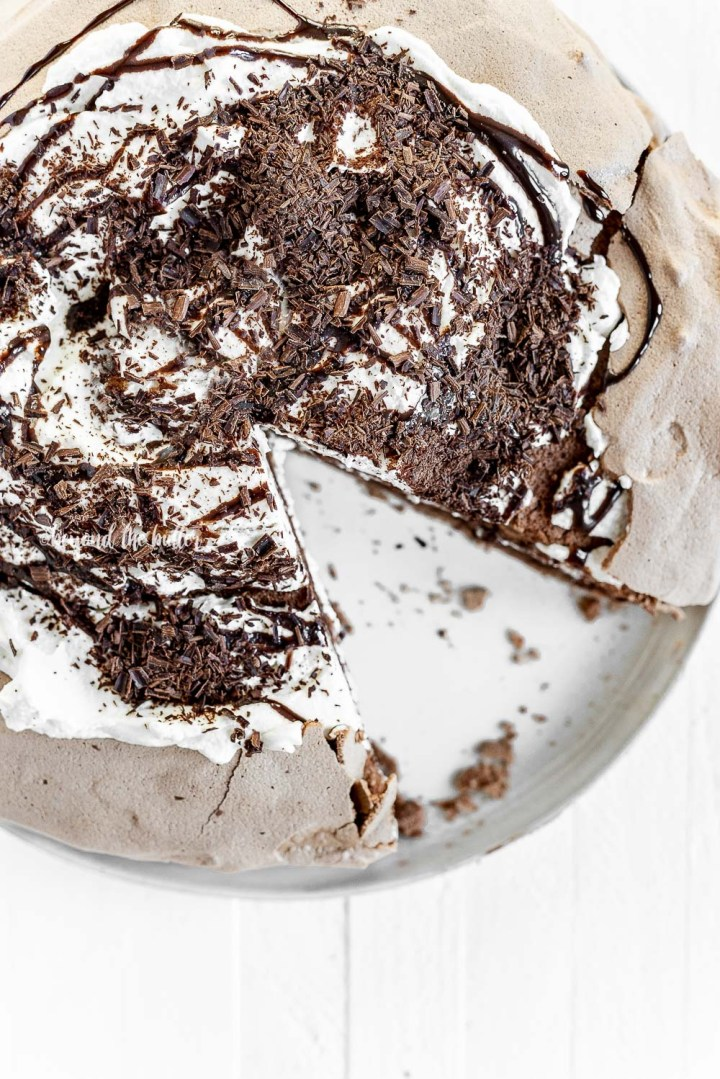 Chocolate Meringue Layer Cake recipe | All Images © Beyond the Butter, LLC