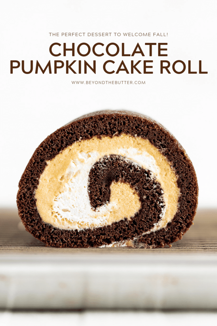 Chocolate Pumpkin Cake Roll | All Images © Beyond the Butter, LLC