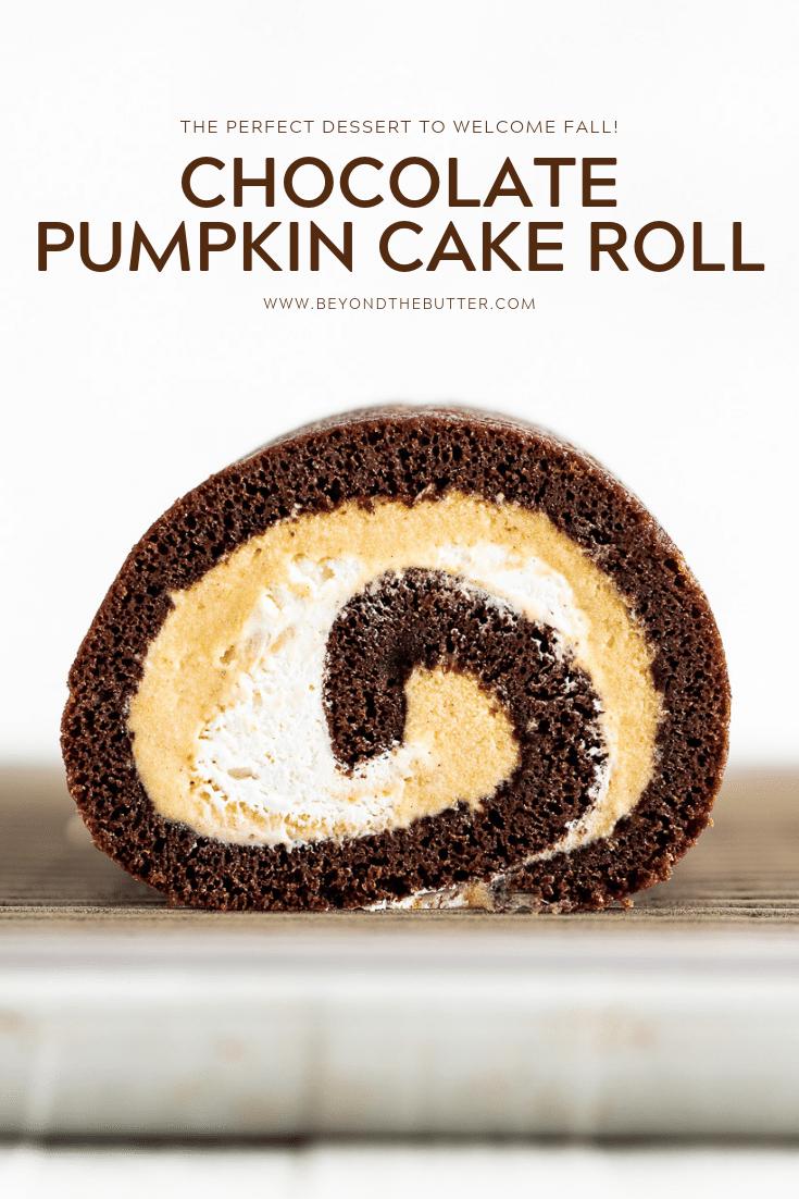Chocolate Pumpkin Cake Roll | All Images © Beyond the Butter, LLC