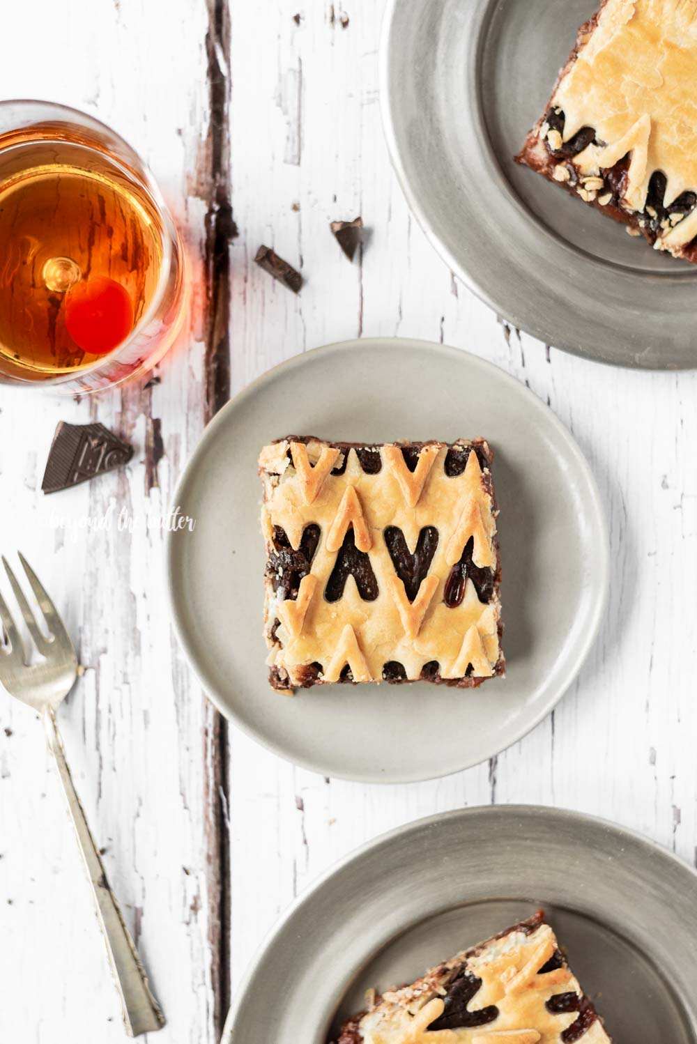 Chocolate Cherry Bourbon Slab Pie | All Images © Beyond the Butter, LLC