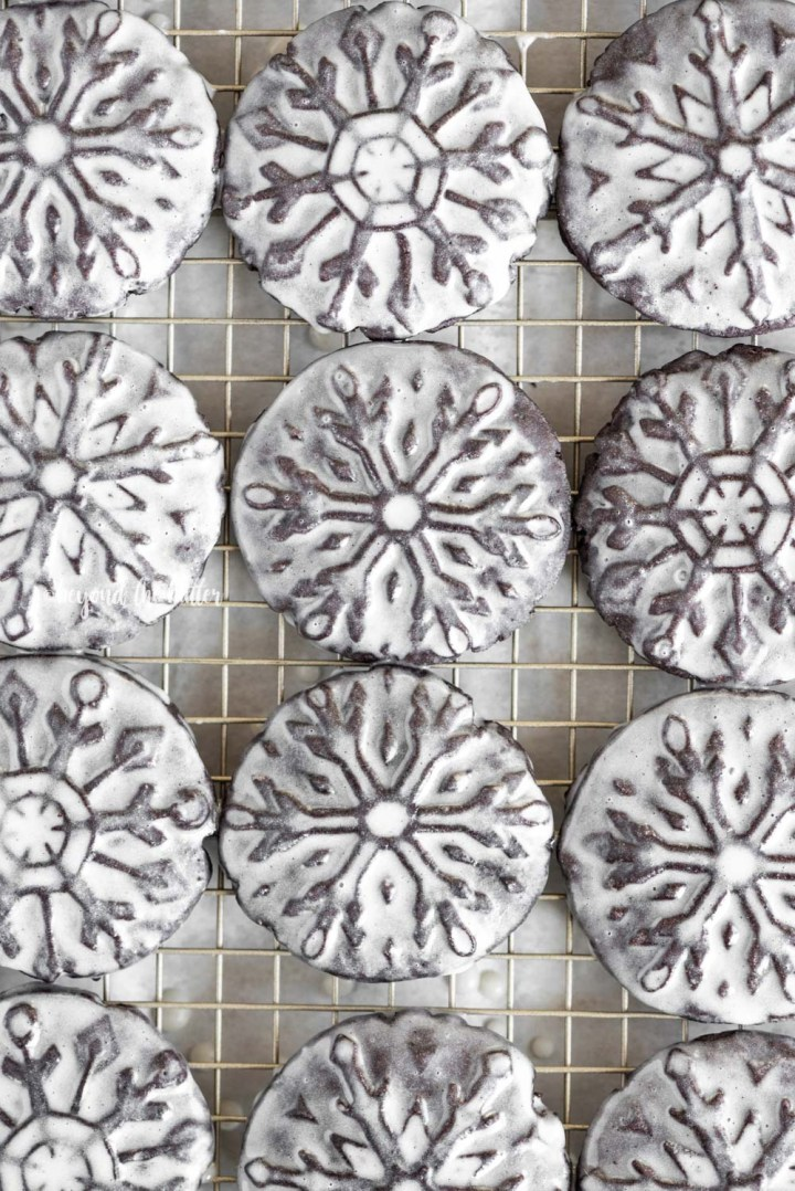 Homemade Oreo Snowflake Cookies with Vanilla Bean Glaze | All Images © Beyond the Butter, LLC