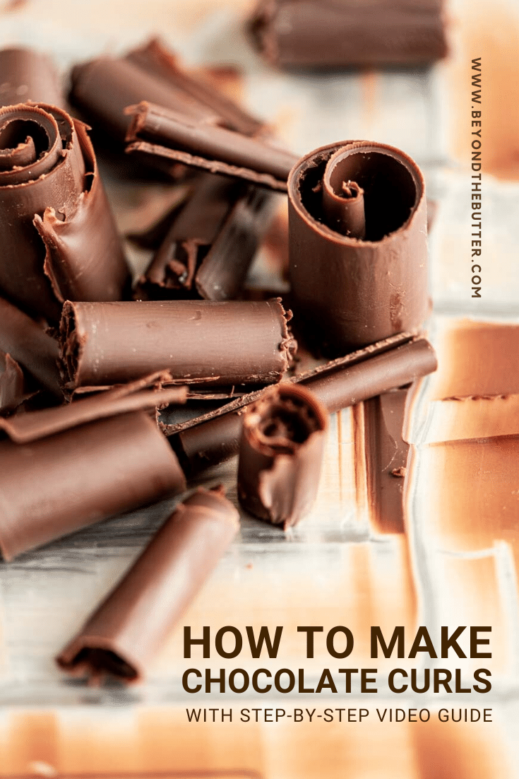 How to Make Chocolate Curls Tutorial | All Images: © Beyond the Butter, LLC