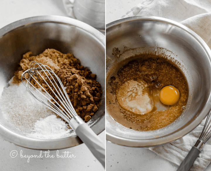2 process shots of making small batch chocolate cupcakes | All images © Beyond the Butter™