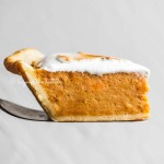 Side view of sweet potato pie slice from Beyond the Butter® | All Images © Beyond the Butter®