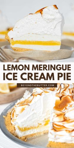 Images of lemon meringue ice cream pie from BeyondtheButter.com | © Beyond the Butter®