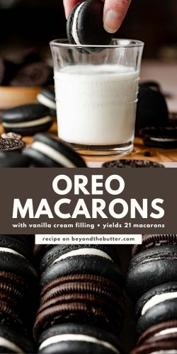 Images of oreo macarons from BeyondtheButter.com | © Beyond the Butter®