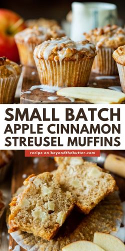 Images of small batch apple cinnamon streusel muffins from BeyondtheButter.com | © Beyond the Butter®