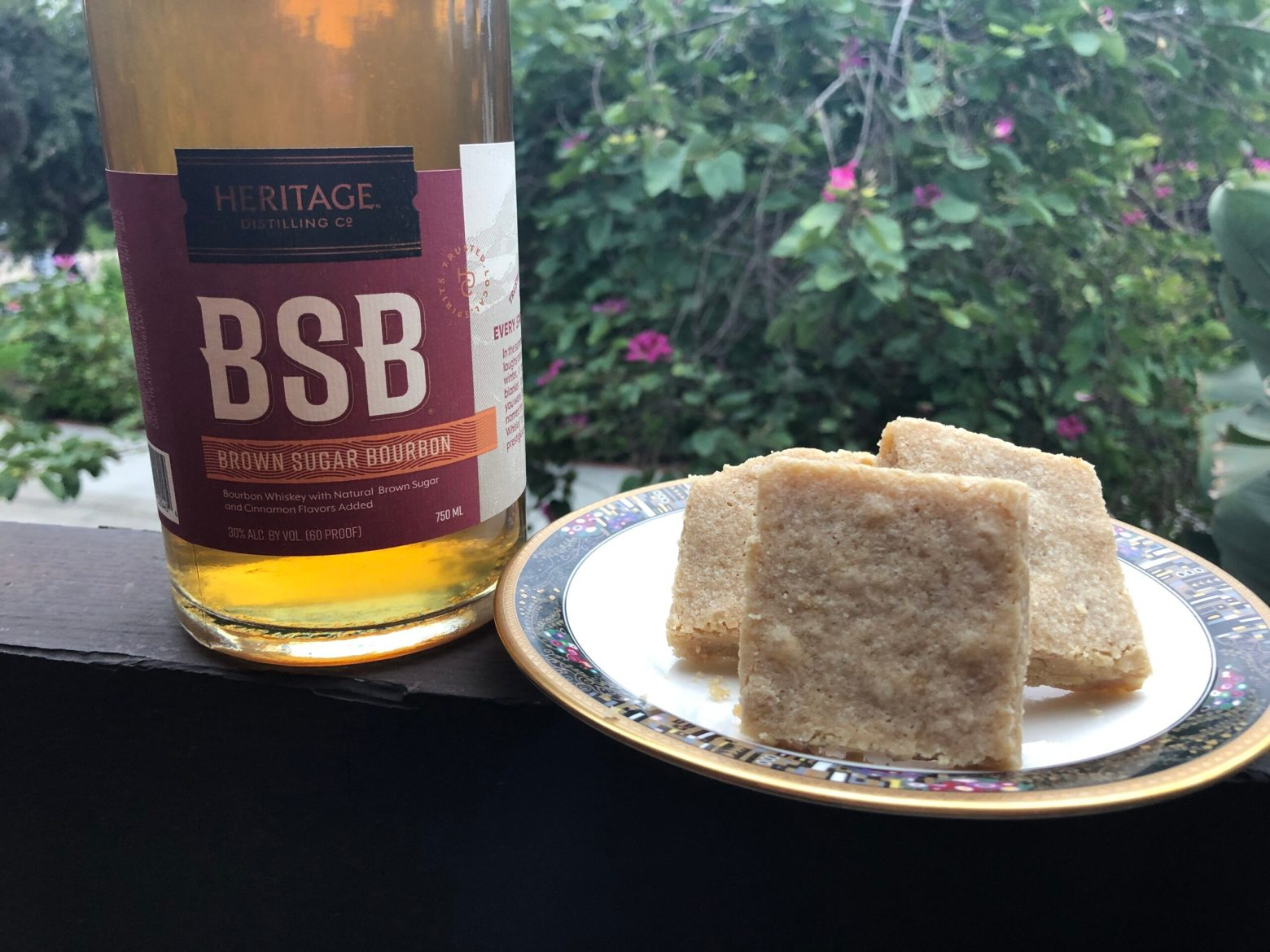 Bourbon Brown Sugar Blondies