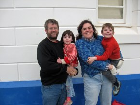 Family Photo 2nd July 2010 outside Byron Bay Lighthouse