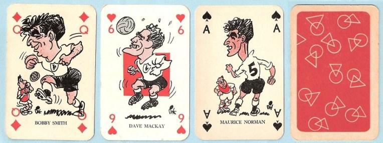 Monty Gum Tottenham playing cards (1961)