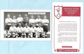 The New Hotspur comic Famous Teams in Football History 2nd Series (1962)
