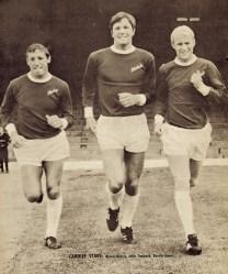 Harris, Toshack and Jones, Cardiff City 1966