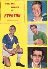 Alex Young, Billy Bingham, Albert Dunlop and Roy Vernon, Everton 1961