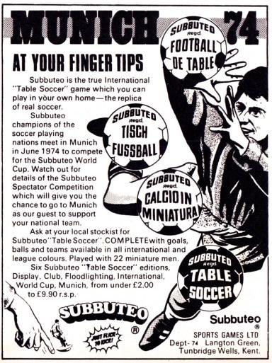 Subbuteo 1974-5