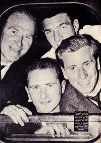 Matt Busby and players, Man United 1958