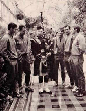 France World Cup squad prepare in Scotland, 1966
