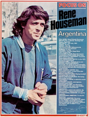 Rene Houseman, 1977