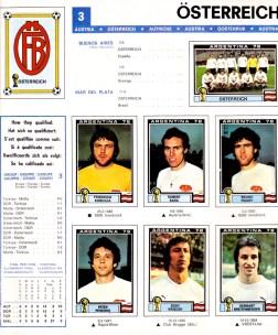 World Cup 1978 Austria 1