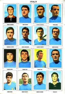 World Cup 1970 FKS Album: Italy