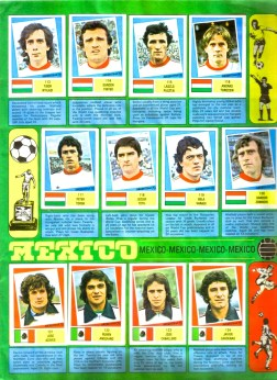 World Cup 1978 FKS Album: Hungary & Mexico