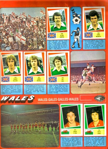 World Cup 1978 FKS Album: Northern Ireland & Wales