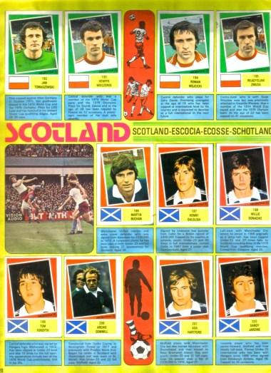 World Cup 1978 FKS Album: Poland & Scotland