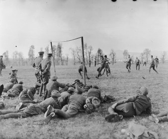 Officers v the ranks match with members of the 26th Divisional Ammunition Train (Service Corps), 1916