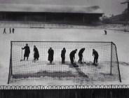 1948 - clearing snow at White Hart Lane, Tottenham