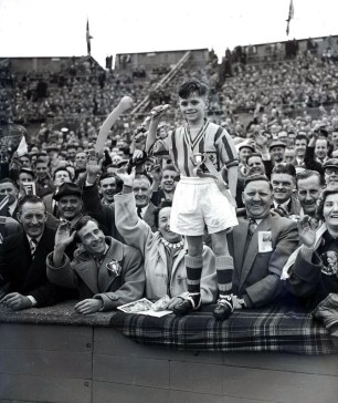 1957 - a young Aston Villa fan at Wembley