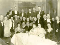 A happy group taken at the promotion dance in 1936