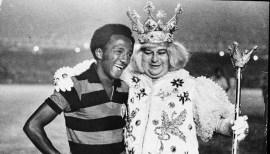 Paulo César with 'Rei Momo', 1972