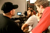 Jay, Mike and John-Michael get ready for the great opening dolly shot.