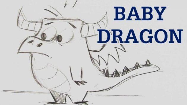 Baby Dragon Drawing