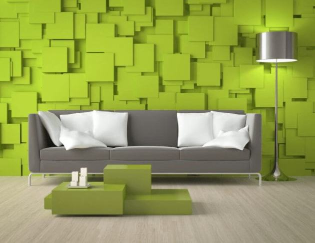 Green Living Room Color Modern