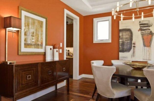 Orange Dinning Room Paint Color