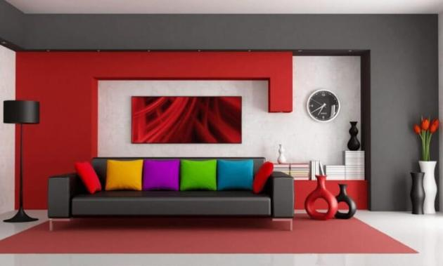 Red Living Room Color