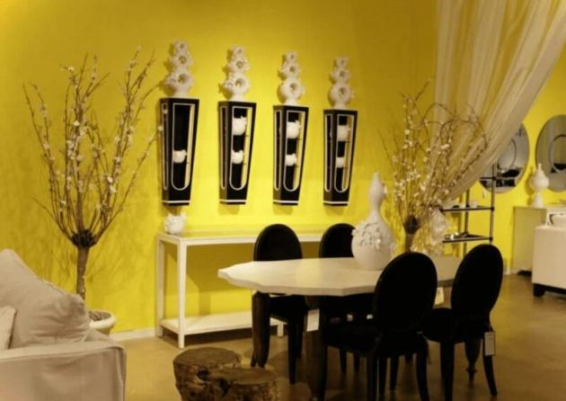 Yelow Dinning Room Paint Color Ideas