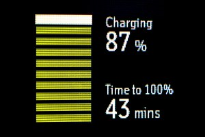 InReach SE charging screen