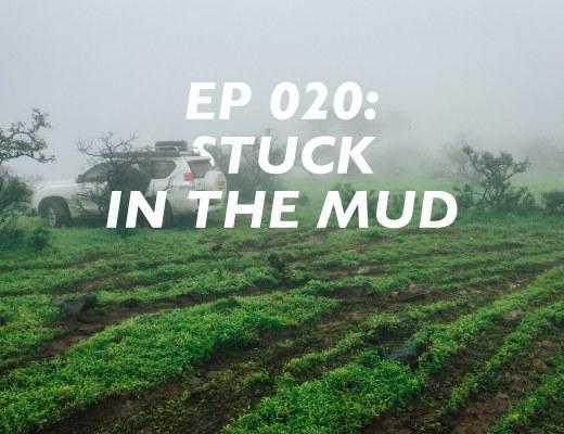 Salalah Road Trip Itinerary, stuck in the mud
