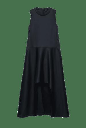 SCUBA DRESS WITH IRREGULAR HEM
