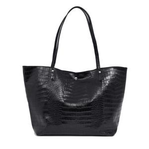 ASOS DESIGN croc bonded shopper bag