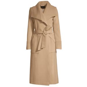 Sentaler – Long Wide-Collar Alpaca Wrap Coat
